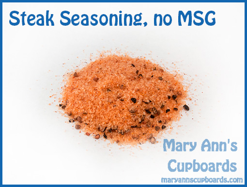 Steak Seasoning no MSG
