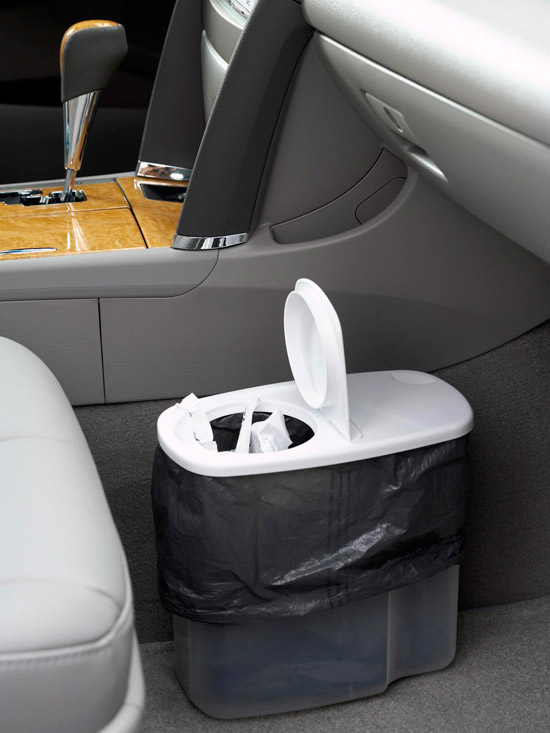 car garbage can