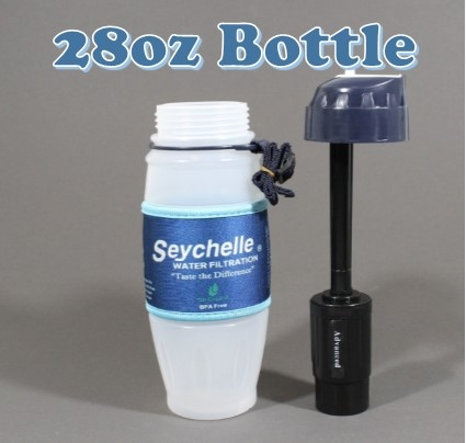 Seychelle 28oz plastic Water Filter Bottle