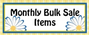 Monthly Bulk Sale Items